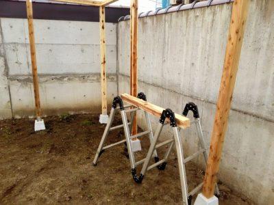 DIY小屋作り一日目04