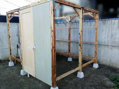 DIY小屋作り二日目10
