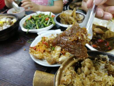牛肉滑雞煲仔飯の牛肉