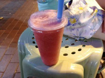 鮮搾果汁の西瓜汁(生スイカジュース)