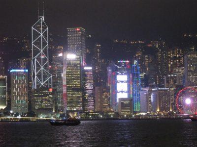 九龍公衆碼頭からの夜景(アップ)