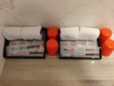 Le Prabelle HotelのQuad Suite アメニティグッズ