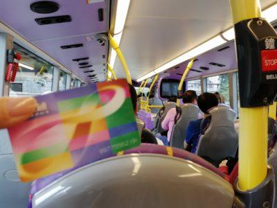 ヴィクトリアピーク行きのバス内