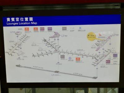 香港国際空港のフロアマップ