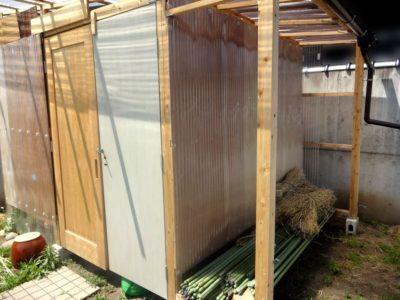 軒下の棚を作る前