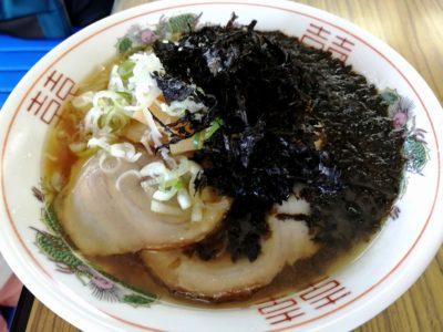 直江津港ターミナルで食べられるチャーシューメン